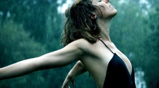 women-in-black-dress-freedom-rain-forest-wet-wide